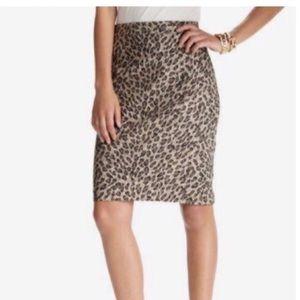 LOFT Cheetah Print Pencil Skirt